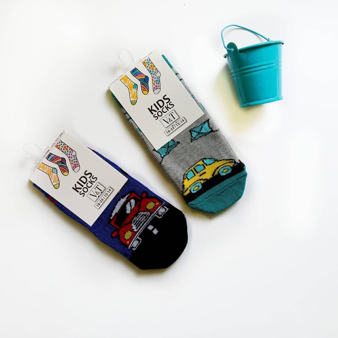 Детские носки на мальчика V&T socks с машинками