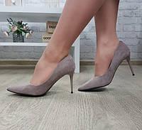 Туфли лодочки женские бежевый, фото 1