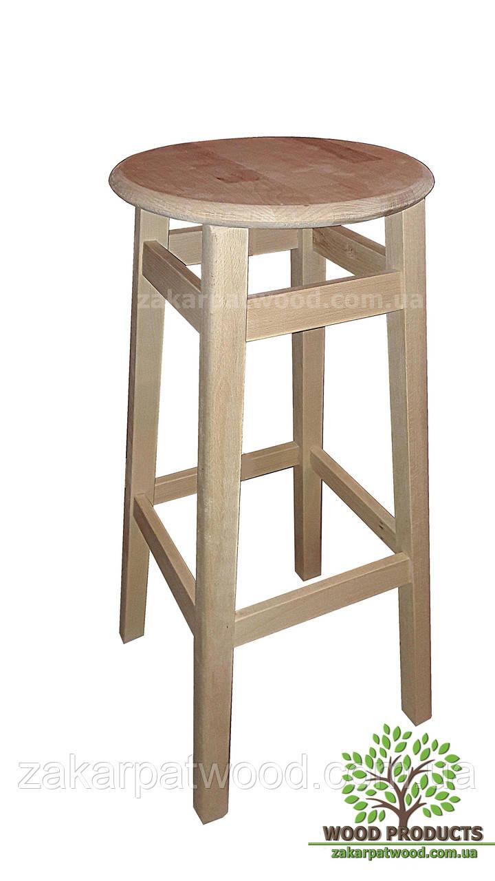 Барный стул с круглою крышкой (бук)  (80*30*30см)