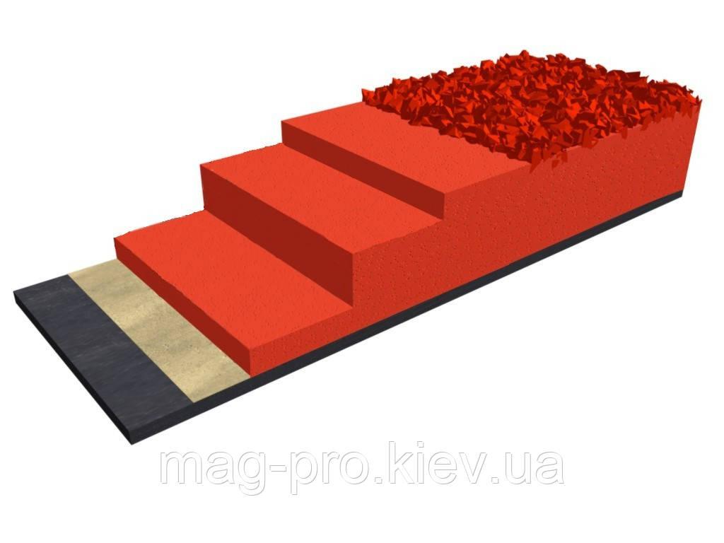 Бесшовное резиновое покрытие для беговых дорожек EPUFLOOR BM 1