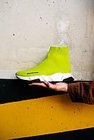 Кроссовки спортивные Balenciaga Speed Sock Yellow BB