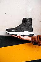 Кроссовки спортивные Balenciaga Speed Sock Mid Lurex Knit