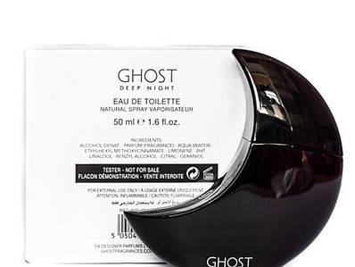 Духи в форме полумесяца GHOST Deep Night ( призрак в ночи) 50мл ТЕСТЕР с крышечкой, цветочный пудровый аромат
