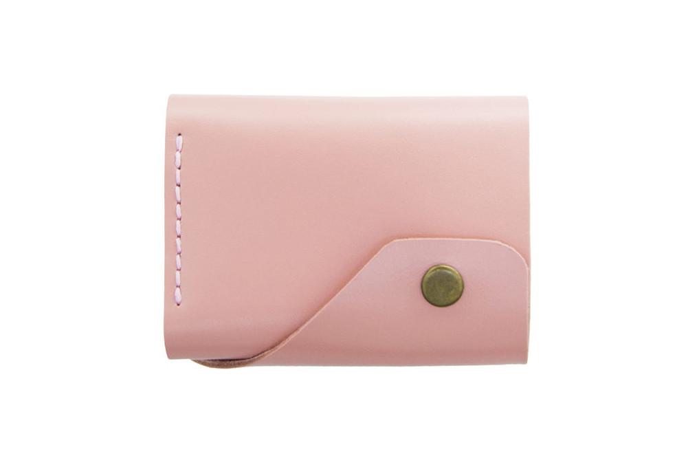 Кожаный женский кошелек Triple розовый