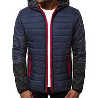 Куртка осенняя мужская J.Style TY-27 синяя M
