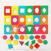 Досочки Сегена - 18 рамок+18 вкладышей. Развивающие игрушки для детей.