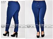Удобные женские брюки из бенгалина  батал  т-зелёные с 48 по 58, фото 3