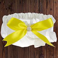 Подвязка, желтый бант (арт. 0798-22)