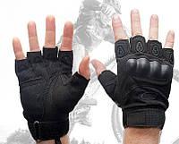 Велоперчатки Oakley черные с защитой косточки кулака