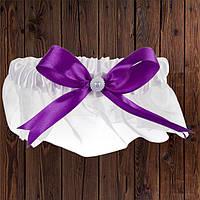 Подвязка, фиолетовый бант (арт. 0798-29)