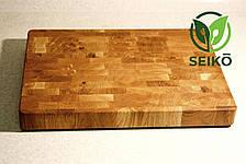 Торцевая разделочная доска с ножками Seikō™ 300х400х40 мм, дуб, фото 3
