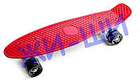 Пенни борд со светящимися колёсами iA009 нагрузка до 80кг 5+ / красный