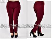 Модные женские летние брюки из стрейч коттона горчичного цвета с 48 по 60 размер, фото 2