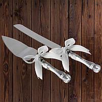 Набор нож и лопатка для свадебного торта (белый цвет), арт. DC-0168-11