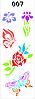 """Трафарет многоразовый""""Бабочки, цветочки""""№007(код 00297)"""
