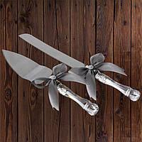 Набор нож и лопатка для свадебного торта (серебристый цвет), арт. DC-0168-26, фото 1