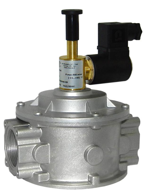 Электромагнитный клапан муфтовый с ручным взводом MADAS