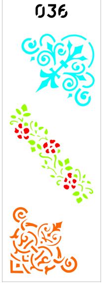 "Трафарет многоразовый""Орнамент №36 (код 01527)"