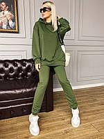 Женский спортивный костюм стильный штаны свободного кроя бомберка Турция прогулочный хорошего качества красивй