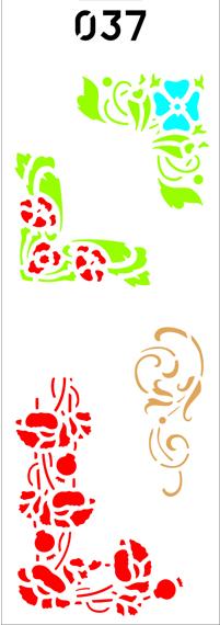 """Трафарет многоразовый""""Орнамент растительный угловой""""№37(код 00303)"""