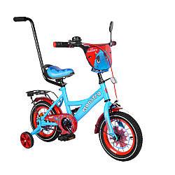 """Велосипед 2-х колісний TILLY Monstro 12"""" T-21228/1 blue + red зі дзвінком, з ручним гальмом, в кор."""