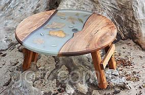 Раскладной стол для пикника с эпоксидной смолой