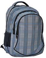 Молодежный рюкзак PASO 24L 15-3519 серый в клетку
