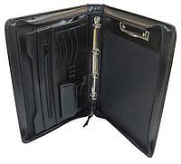Папка-портфель А4 из эко кожи JPB Польша AK-04N чёрный