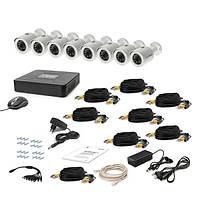 Комплект проводного видеонаблюдения Tecsar 8OUT