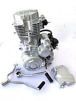 Двигатель 200 куб в сборе на мотоцикл 163FML.