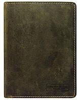 Мужское винтажное портмоне из кожи Always Wild коричневое