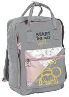 Женский городской рюкзак-сумка трансформер 14L Paso серый