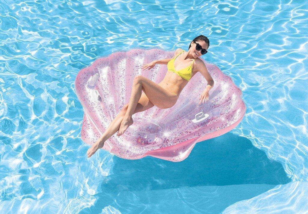 """Надувной плотик Intex 57257 """"Розовая ракушка"""" EU (3) 178 см х 165 см х 24 см"""