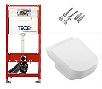 Инсталляция TECE с подвесным унитазом JOYCE DirectFlush + крышка Softclose