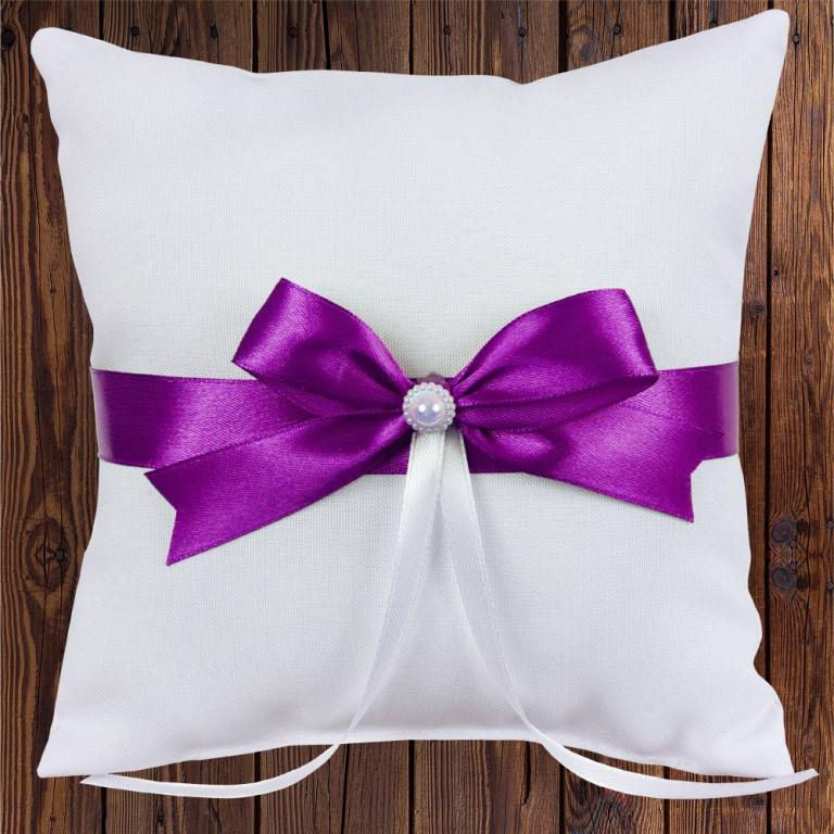 Подушечка для колец, 17х17 см, фиолетовый цвет (арт. 0799-29)