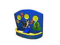 М'який розвиваючий дитячий ігровий модульний тренажер тир з малюнками для квартири, саду Африка 120х10х150 см