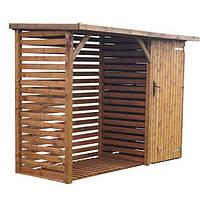Дровник, хозблок для дров и садового инвентаря, сарай с будкой для инструментов