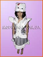 """Новогодние костюмы для девочек """"Белая кошка"""""""