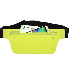 Спортивная сумка на пояс SW01 Accel Yellow / Сумка на пояс желтая / Бананка