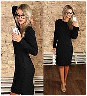 Длинное теплое платье ку67, фото 1