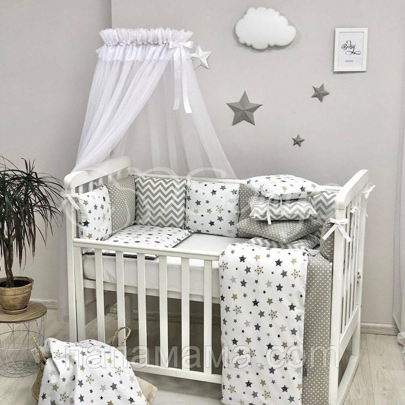 Комплект Baby Design Премиум Stars, серый