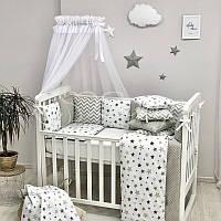Комплект Baby Design Премиум Stars, серый, фото 1