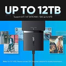 "Переходник SATA USB 3.0 для HDD/SSD 2.5"" 3.5"" Ugreen 60561 (С кабелем питания), фото 3"