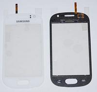 Оригинальный тачскрин / сенсор (сенсорное стекло) для Samsung Galaxy Fame S6810 S6812 (белый цвет, самоклейка)