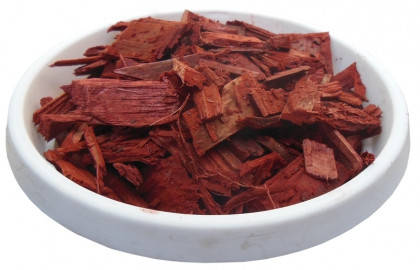 Щепа (тріска) декоративна кольорова, 50л, червона, квадратна ОПТ, фото 2