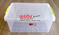 Контейнер 17л пищевой 450х312х190мм пластиковый прямоугольный с ручками, крышкой Lux №08 Ал-Пластик, фото 1