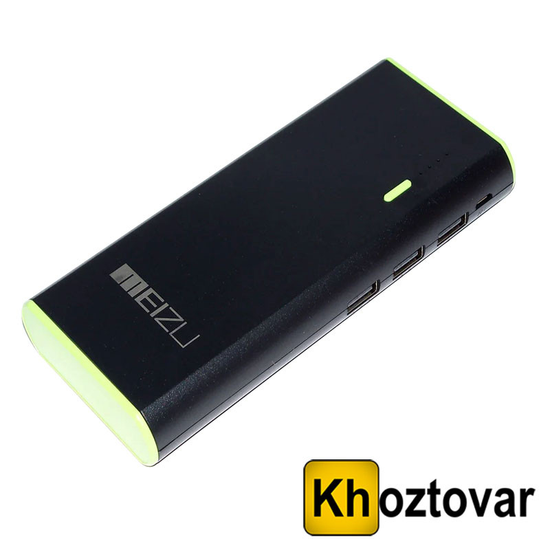 Внешний аккумулятор с фонариком Meizu Power Bank 30000 mAh   3 USB