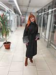 Стильне зимове жіноче пальто з манжетами з чорнобурки Ricco Рів'єра, фото 7