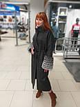 Стильне зимове жіноче пальто з манжетами з чорнобурки Ricco Рів'єра, фото 6