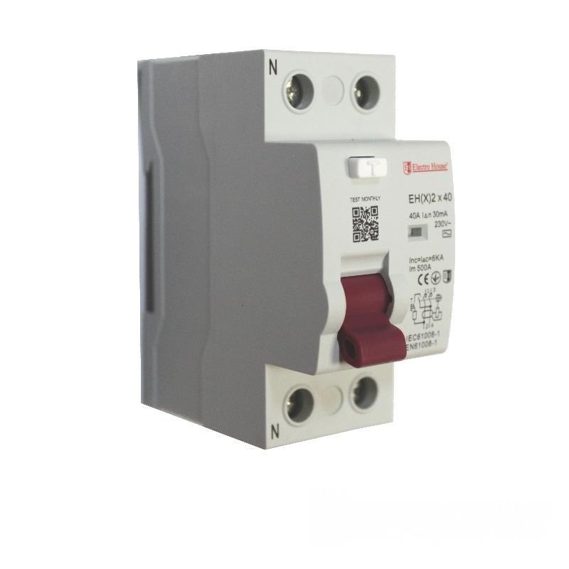 ElectroHouse УЗО 2P 40A 30mA 230-400V IP20